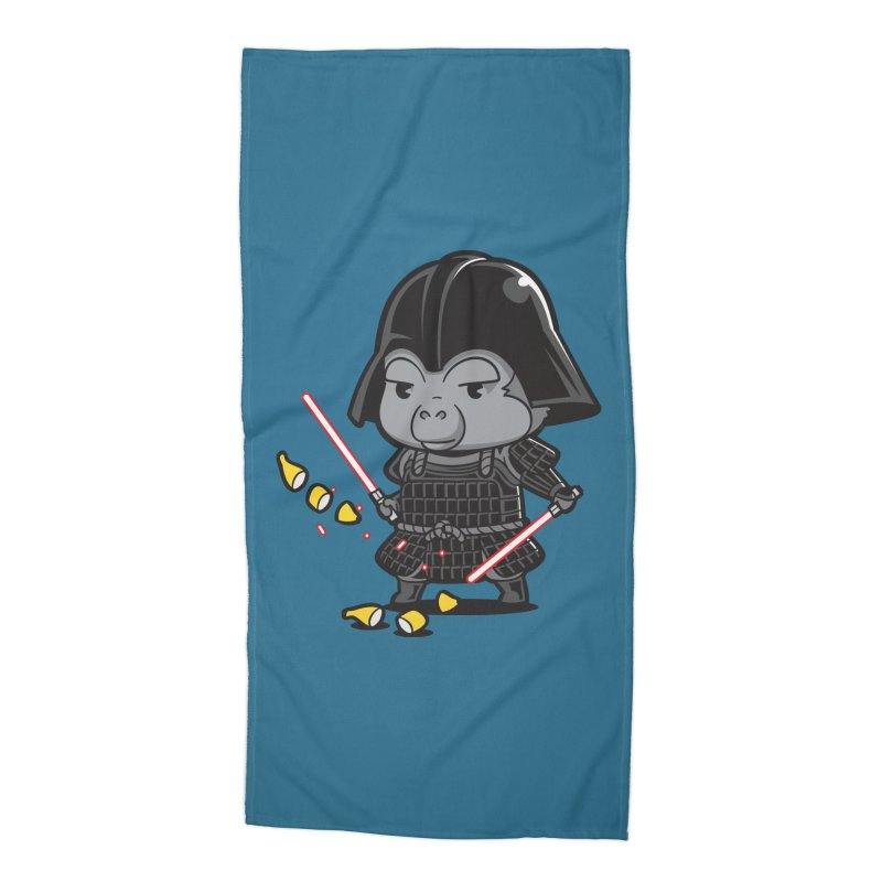 Samurai Dark Accessories Beach Towel by Flying Mouse365