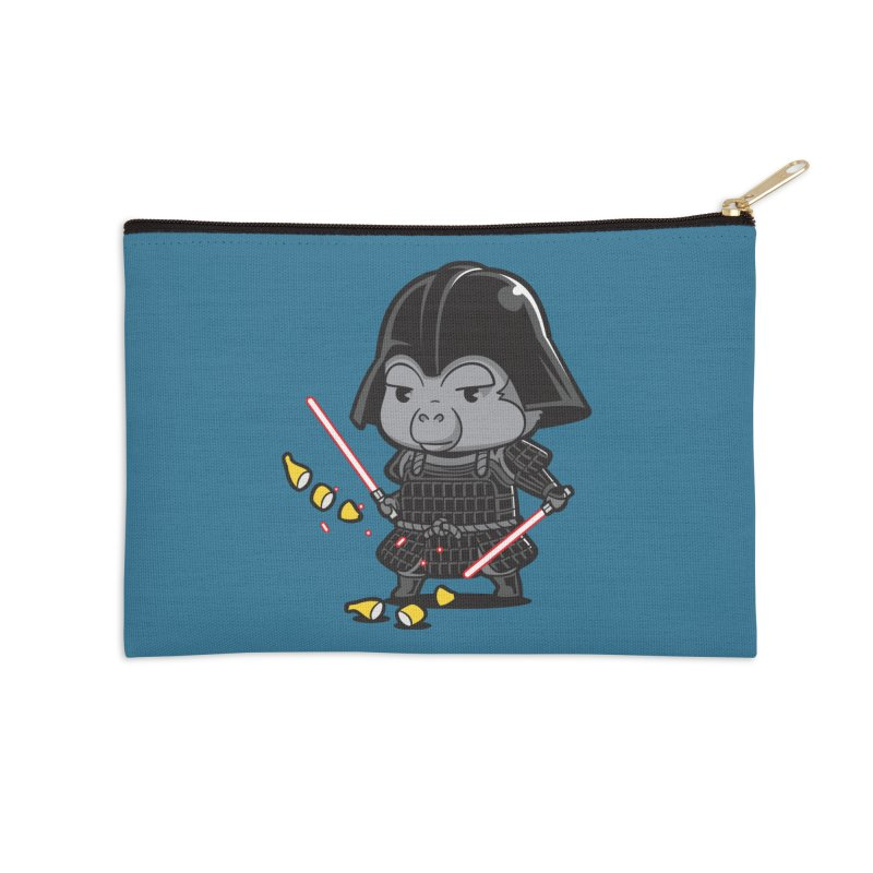 Samurai Dark Accessories Zip Pouch by Flying Mouse365