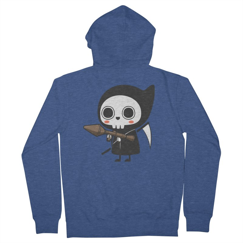 New Weapon Men's French Terry Zip-Up Hoody by Flying Mouse365