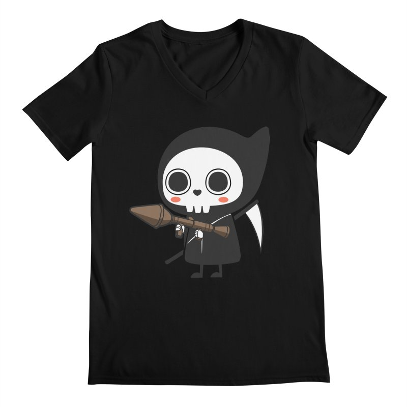 New Weapon Men's V-Neck by Flying Mouse365