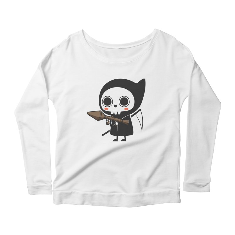 New Weapon Women's Longsleeve Scoopneck  by Flying Mouse365