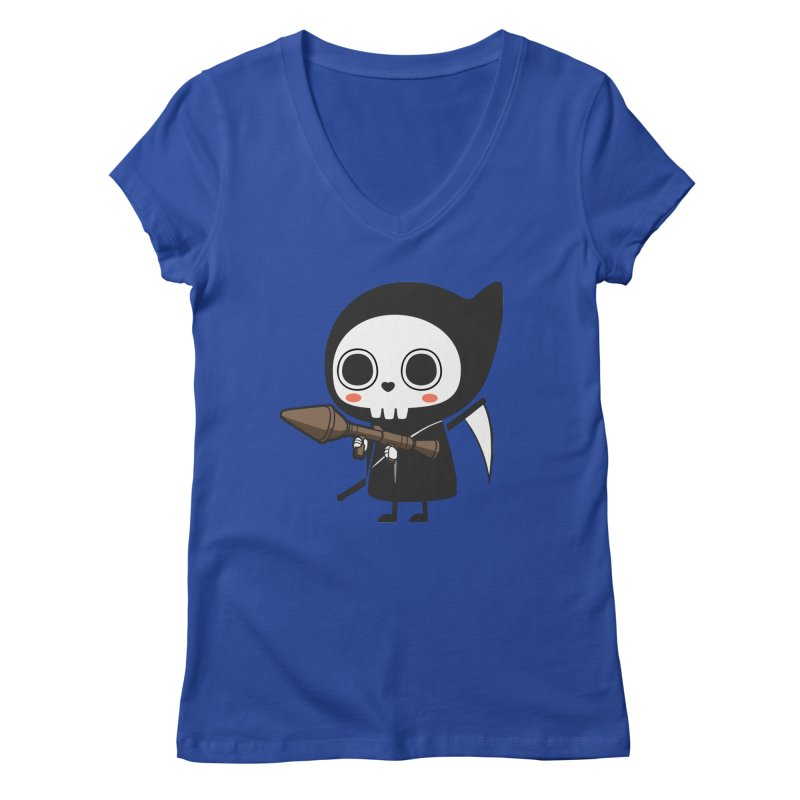 New Weapon Women's V-Neck by Flying Mouse365