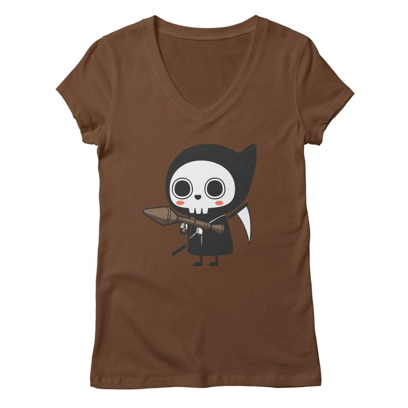 New Weapon Women's Regular V-Neck by Flying Mouse365