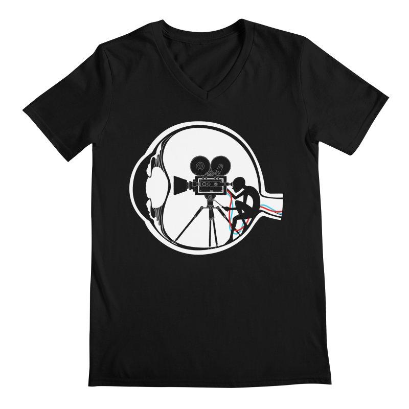 Vision Director Men's V-Neck by Flying Mouse365