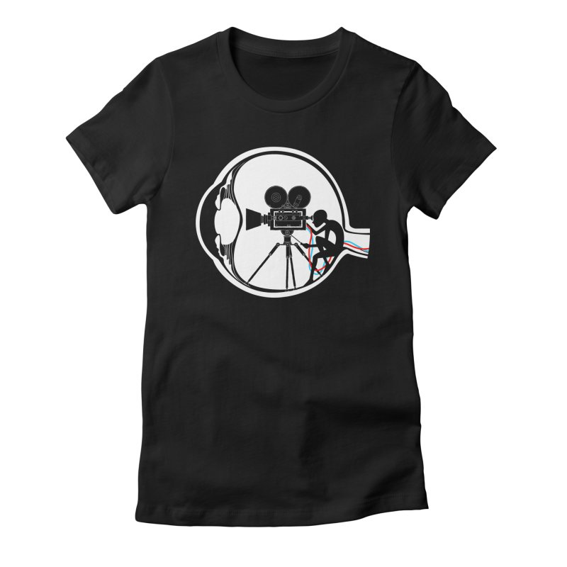 Vision Director Women's Fitted T-Shirt by Flying Mouse365