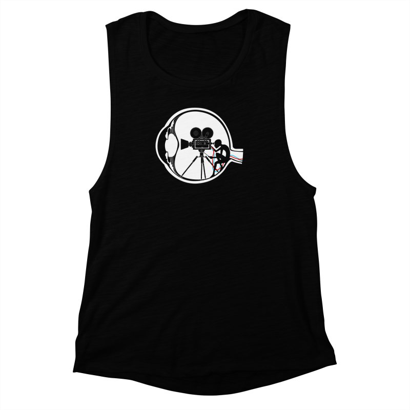 Vision Director Women's Muscle Tank by Flying Mouse365