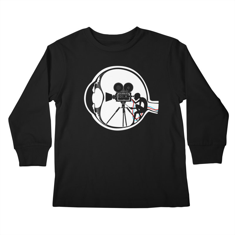 Vision Director Kids Longsleeve T-Shirt by Flying Mouse365