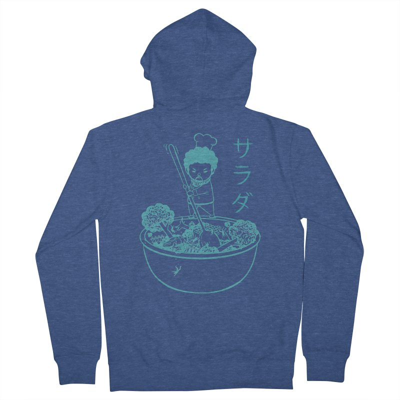 OH MY GOR - Garden Salad Men's French Terry Zip-Up Hoody by Flying Mouse365