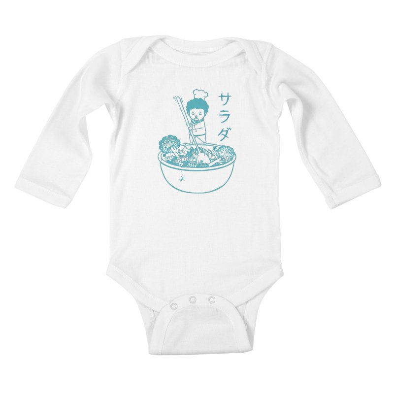 OH MY GOR - Garden Salad Kids Baby Longsleeve Bodysuit by Flying Mouse365