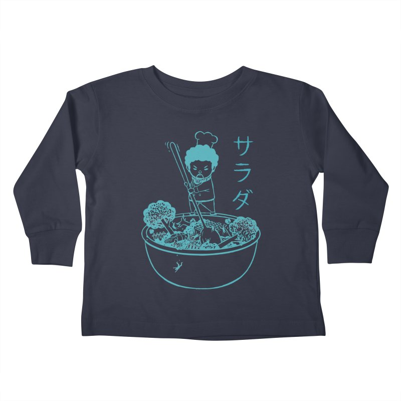 OH MY GOR - Garden Salad Kids Toddler Longsleeve T-Shirt by Flying Mouse365