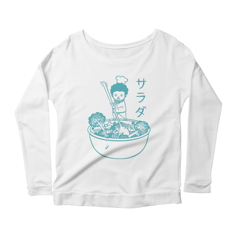 OH MY GOR - Garden Salad Women's Scoop Neck Longsleeve T-Shirt by Flying Mouse365