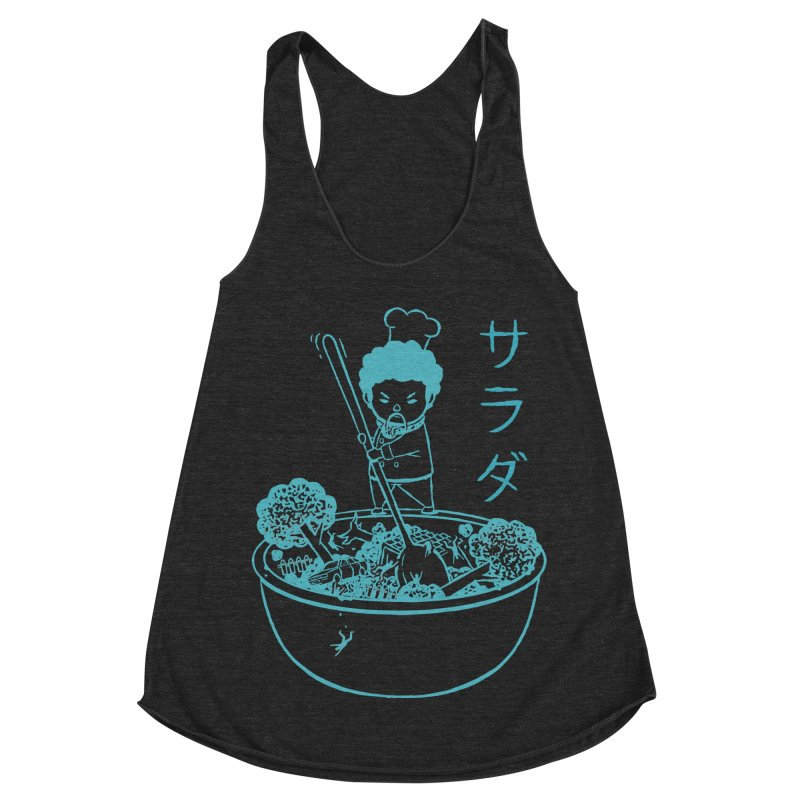 OH MY GOR - Garden Salad Women's Racerback Triblend Tank by Flying Mouse365