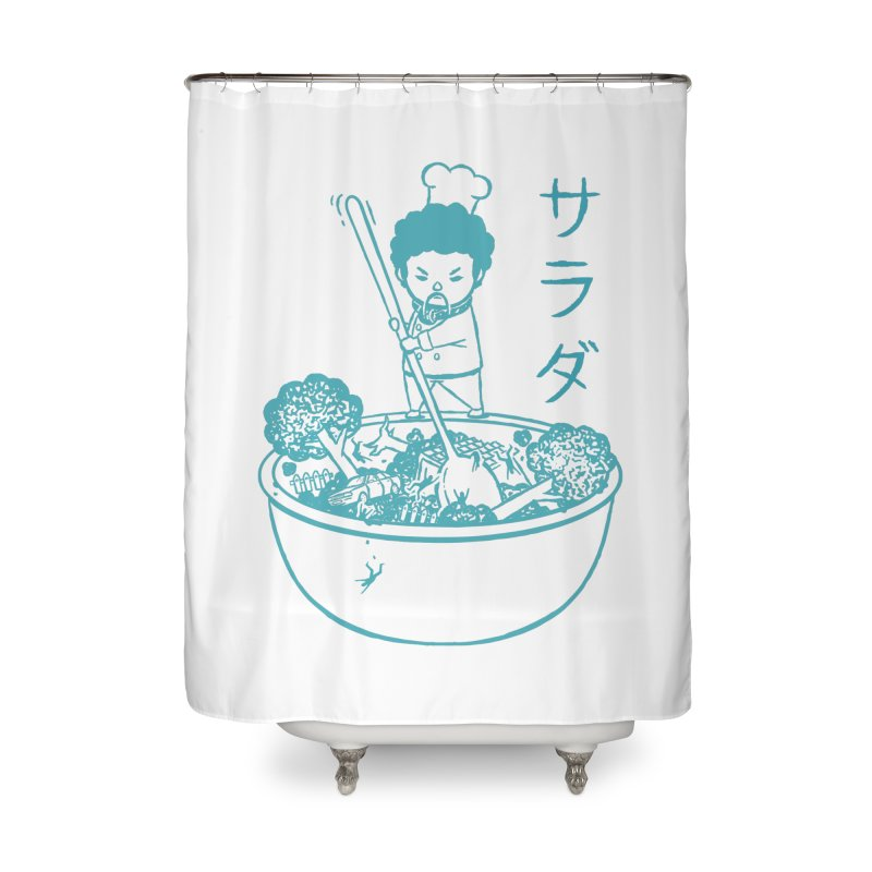 OH MY GOR - Garden Salad Home Shower Curtain by Flying Mouse365
