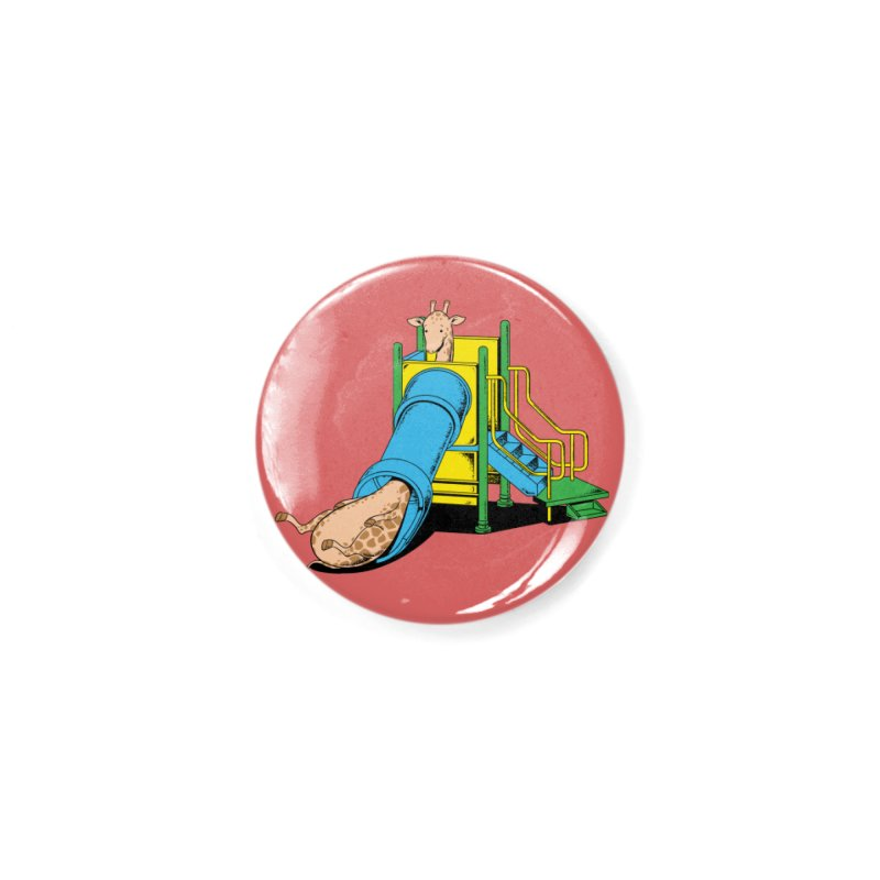 No Fun For Giraffe Accessories Button by Flying Mouse365
