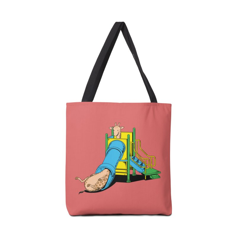 No Fun For Giraffe Accessories Bag by Flying Mouse365