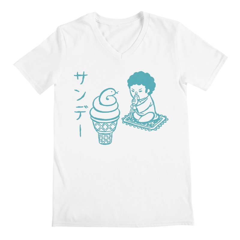 Sundae Dancing Men's V-Neck by Flying Mouse365