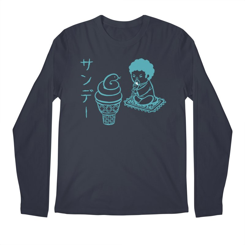 Sundae Dancing Men's Longsleeve T-Shirt by Flying Mouse365