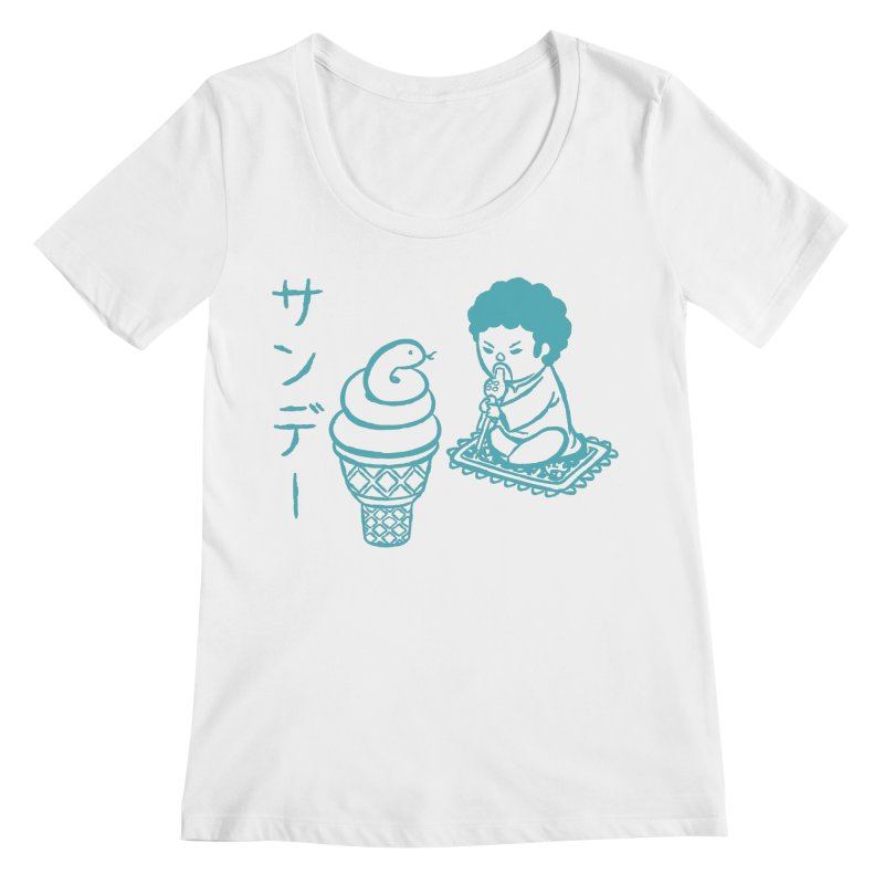 Sundae Dancing Women's Regular Scoop Neck by Flying Mouse365