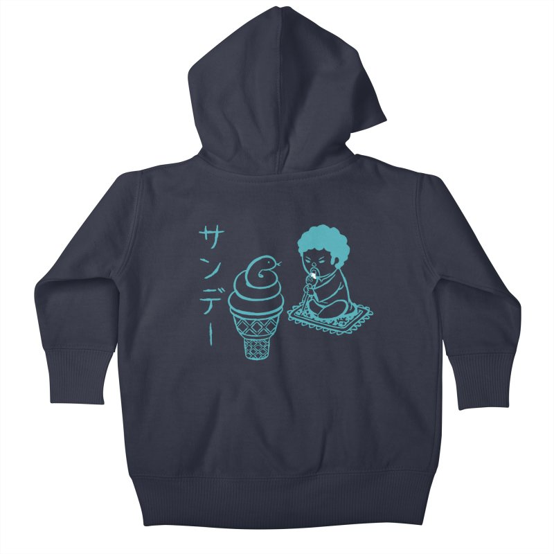 Sundae Dancing Kids Baby Zip-Up Hoody by Flying Mouse365