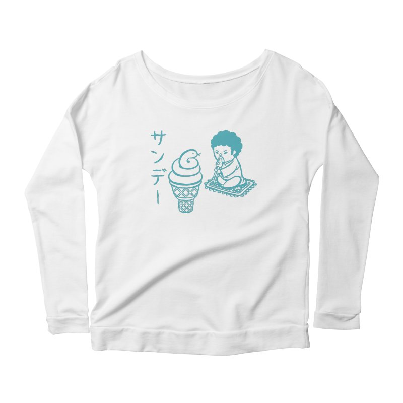 Sundae Dancing Women's Longsleeve Scoopneck  by Flying Mouse365