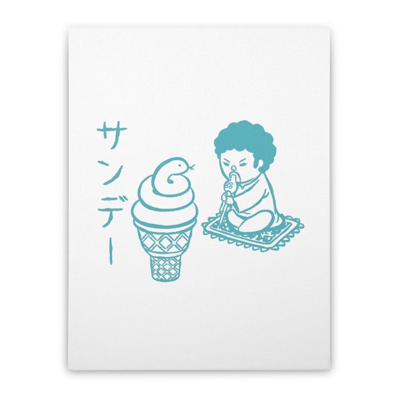 Sundae Dancing Home Stretched Canvas by Flying Mouse365