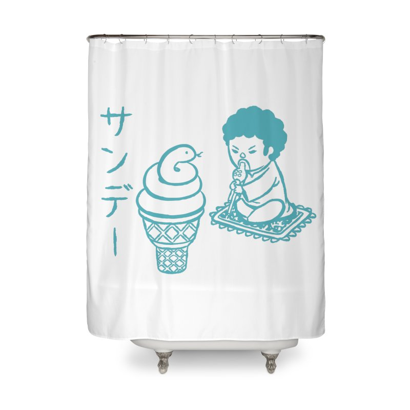 Sundae Dancing Home Shower Curtain by Flying Mouse365