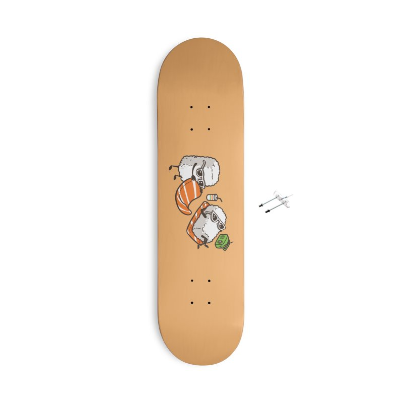 Summer Sushi Accessories Skateboard by Flying Mouse365