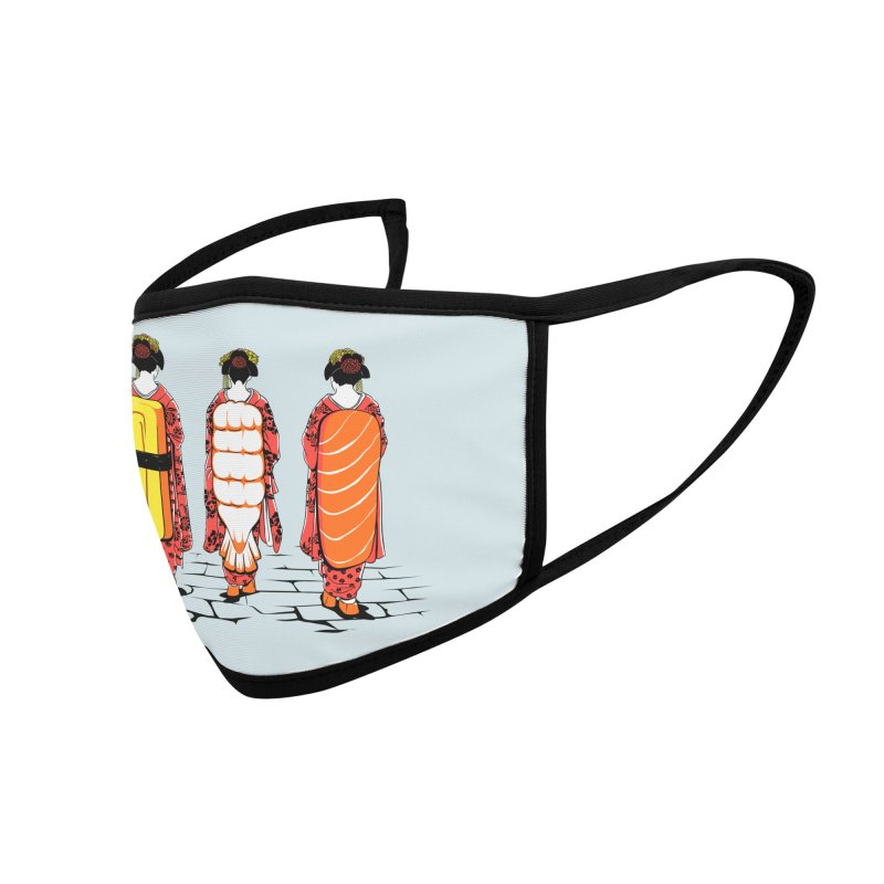 Sushi Ladies Accessories Face Mask by Flying Mouse365