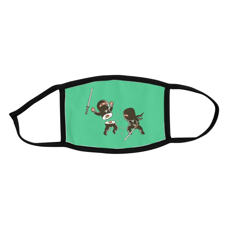 Sushi Ninja Accessories Face Mask by Flying Mouse365