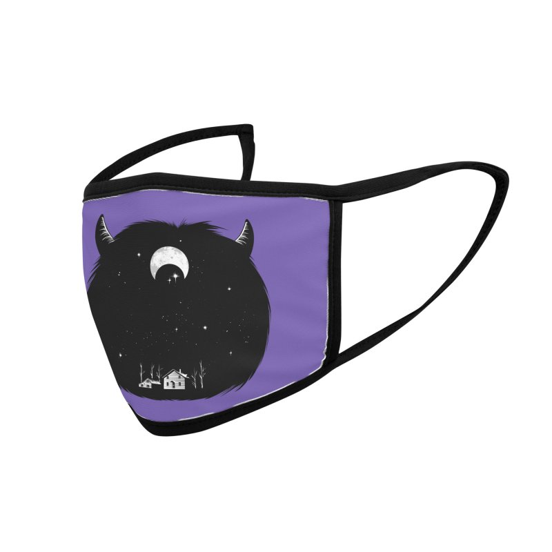 Swallowed By Darkness Accessories Face Mask by Flying Mouse365