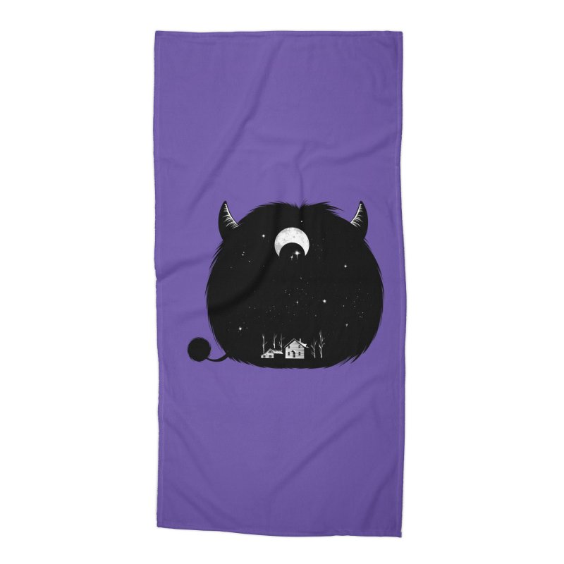 Swallowed By Darkness Accessories Beach Towel by Flying Mouse365