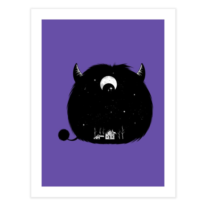 Swallowed By Darkness Home Fine Art Print by Flying Mouse365