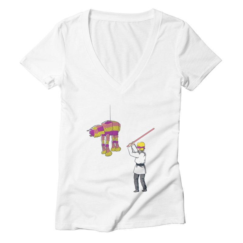 The War is Everywhere Women's V-Neck by Flying Mouse365