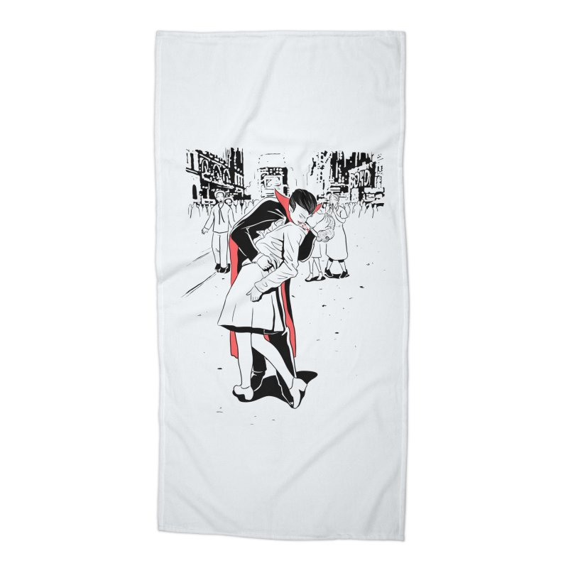 Time Square Bite Accessories Beach Towel by Flying Mouse365