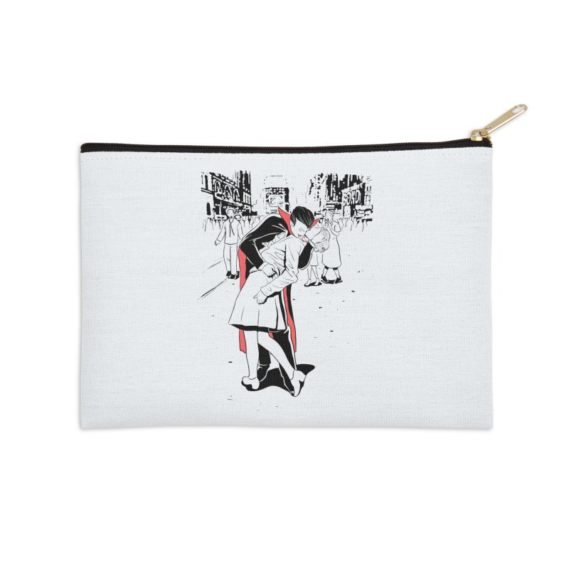 Time Square Bite Accessories Zip Pouch by Flying Mouse365
