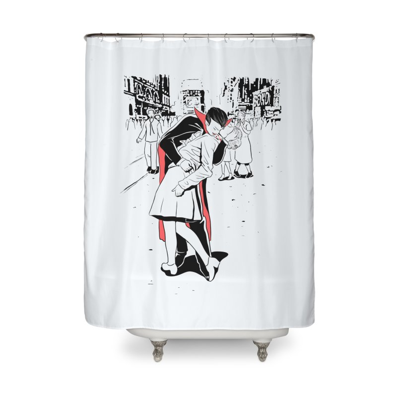 Time Square Bite Home Shower Curtain by Flying Mouse365