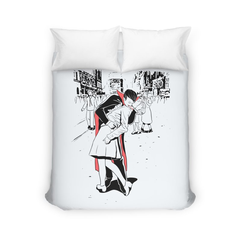 Time Square Bite Home Duvet by Flying Mouse365