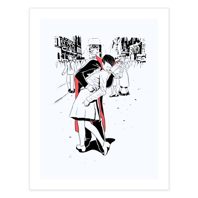 Time Square Bite Home Fine Art Print by Flying Mouse365