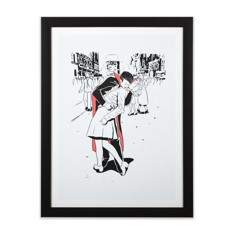 Time Square Bite Home Framed Fine Art Print by Flying Mouse365