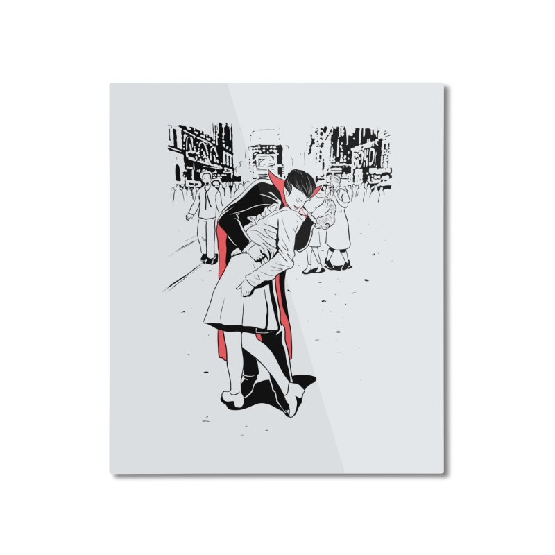 Time Square Bite Home Mounted Aluminum Print by Flying Mouse365