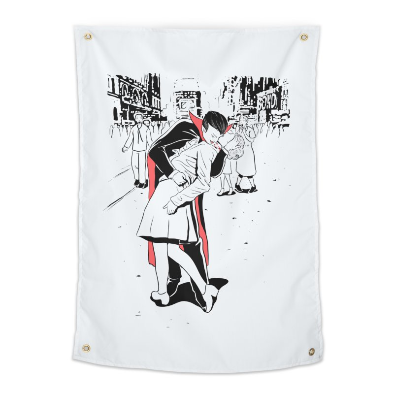 Time Square Bite Home Tapestry by Flying Mouse365