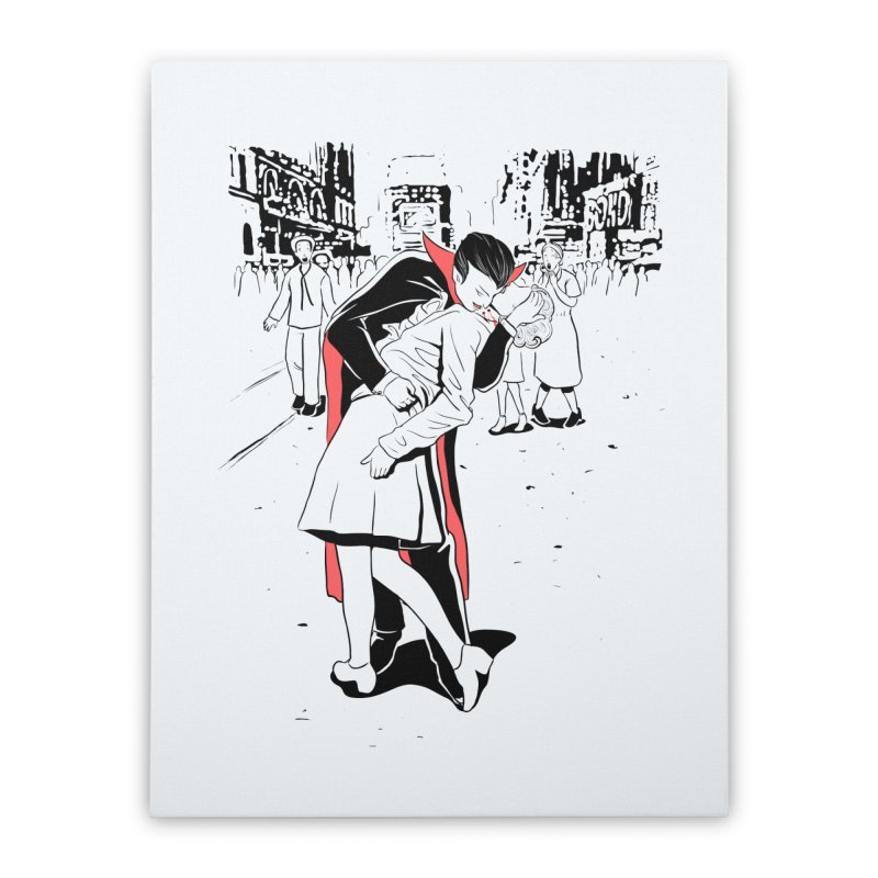 Time Square Bite Home Stretched Canvas by Flying Mouse365