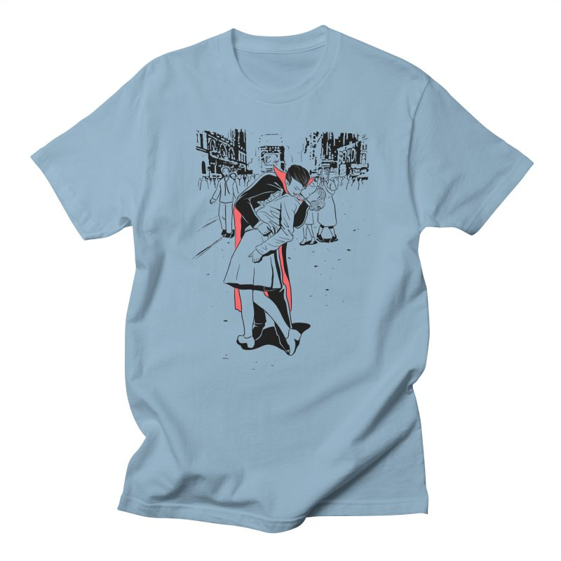 Time Square Bite Men's T-Shirt by Flying Mouse365