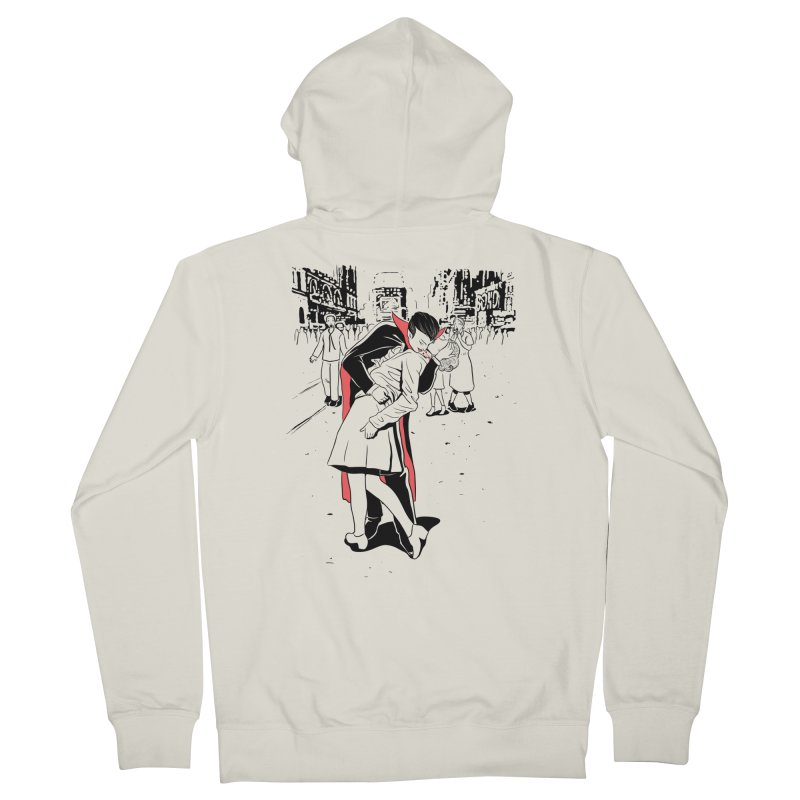 Time Square Bite Men's Zip-Up Hoody by Flying Mouse365