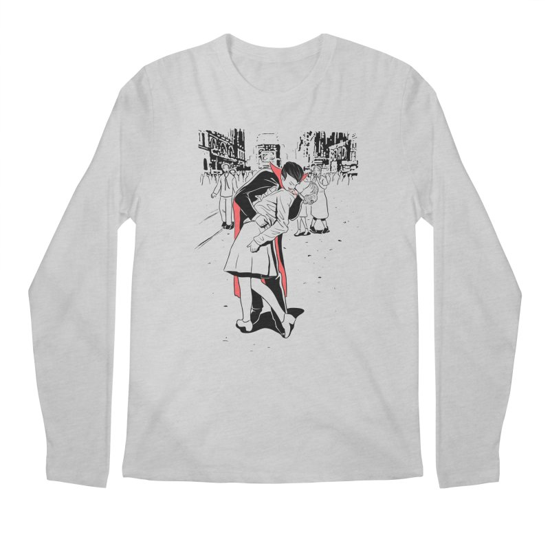 Time Square Bite Men's Longsleeve T-Shirt by Flying Mouse365
