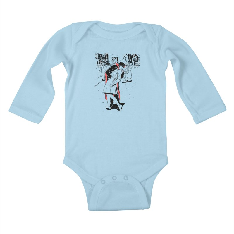 Time Square Bite Kids Baby Longsleeve Bodysuit by Flying Mouse365