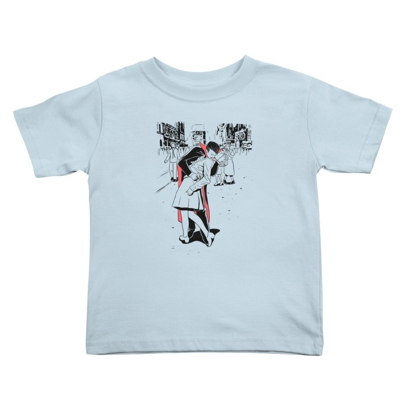 Time Square Bite Kids Toddler T-Shirt by Flying Mouse365