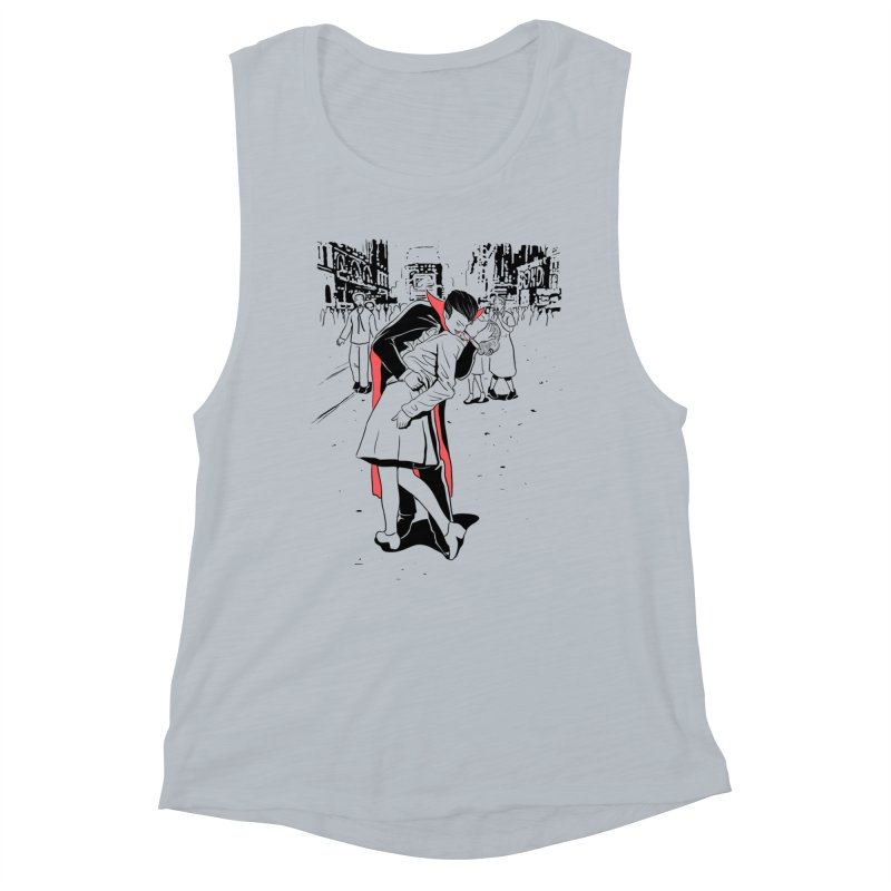 Time Square Bite Women's Tank by Flying Mouse365