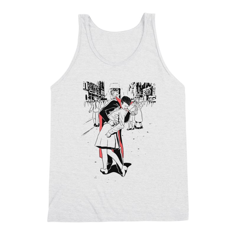 Time Square Bite Men's Tank by Flying Mouse365