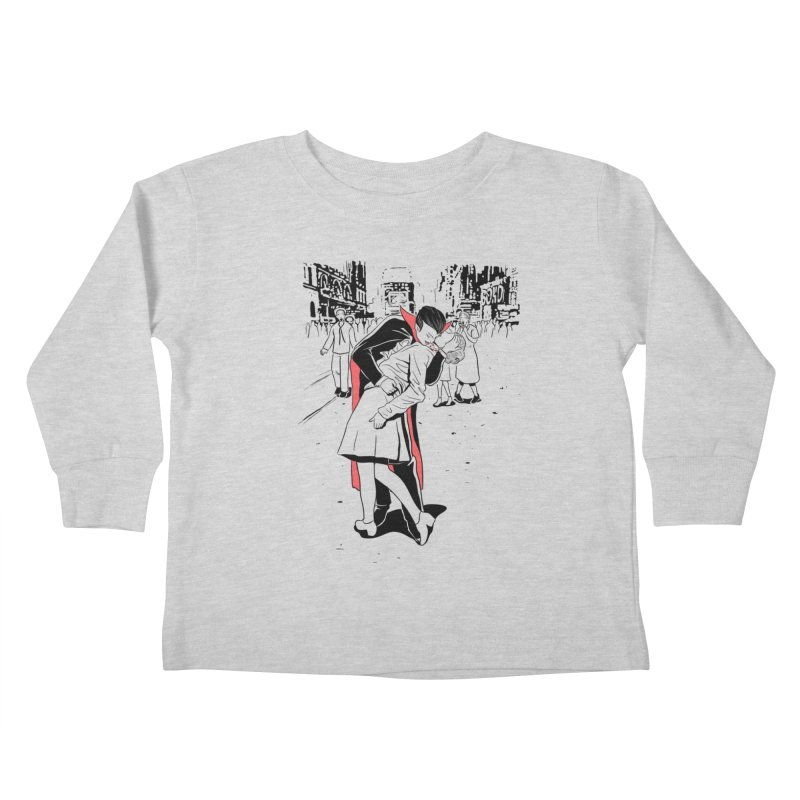 Time Square Bite Kids Toddler Longsleeve T-Shirt by Flying Mouse365